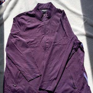 Lands End Purple Track Jacket, Size 2x